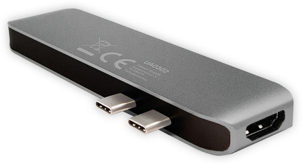 USB-C Hub LOGILINK UA0302, 7in1, PD, 100W, Aluminium - Produktbild 2