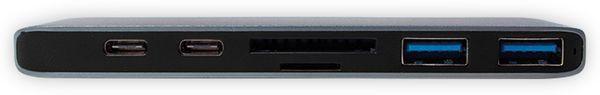 USB-C Hub LOGILINK UA0302, 7in1, PD, 100W, Aluminium - Produktbild 3