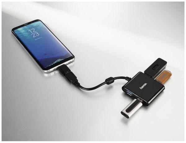 USB 3.1 Hub HAMA, ink. USB-C Adapter, Bus-Powered - Produktbild 2