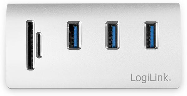 USB-HUB LOGLINK CR0045, 3x USB-A, integrierter Cardreader - Produktbild 3