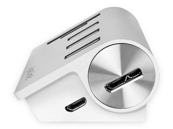 USB-HUB LOGLINK CR0045, 3x USB-A, integrierer Cardreader - Produktbild 4