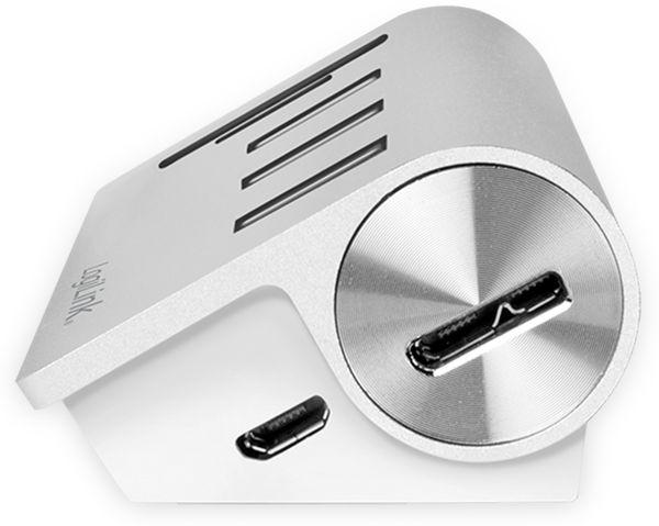 USB-HUB LOGLINK CR0045, 3x USB-A, integrierter Cardreader - Produktbild 4