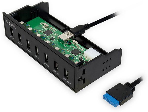 """USB3.0 Einbau-Hub LOGLINK UA0342, 7x USB-A, 5,25"""" - Produktbild 2"""