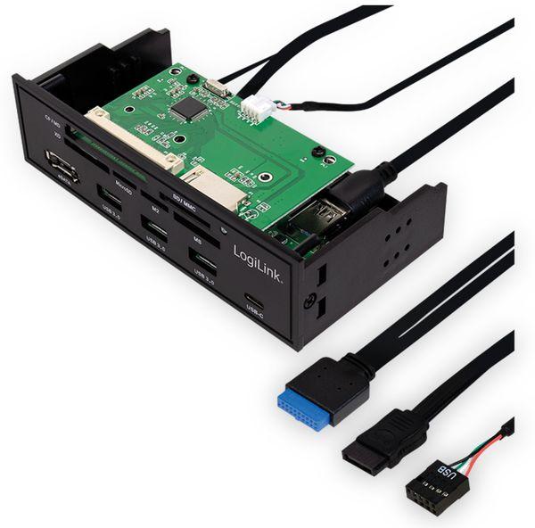 """USB3.0 Einbau-Hub LOGILINK UA0341, mit Cardreader, 5,25"""" - Produktbild 2"""