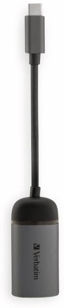 USB-C Adapter VERBATIM 49146, Gigabit-LAN, Slimline