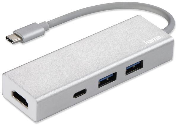 USB-C Hub HAMA 135756, 2x USB-A, USB-C, HDMI, Aluminium