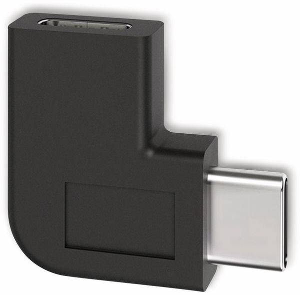 USB-Adapter GOOBAY 45402, schwarz, C-Buchse/C-Stecker, 90° gewinkelt
