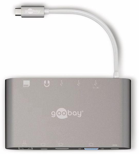 USB-C Multiport-Adapter GOOBAY 62113, Multidock, Aluminium, silber