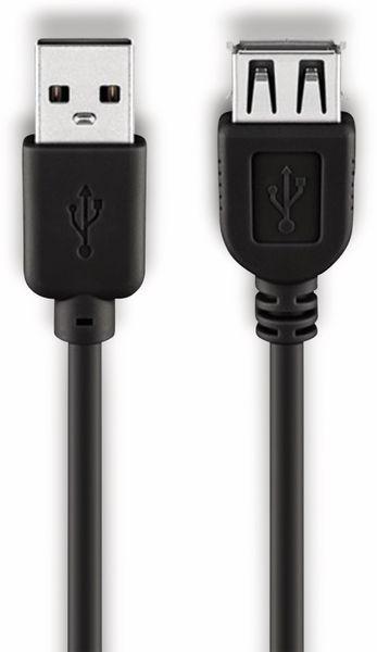 USB 2.0 Verlängerung GOOBAY 68625 Hi-Speed, A/A, 0,6 m, schwarz