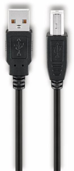 USB 2.0 Hi-Speed Kabel GOOBAY 68900, A/B, 1,8 m, schwarz