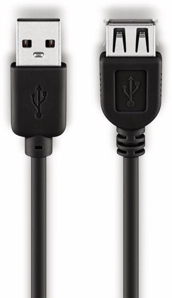 USB 2.0 Hi-Speed Verlängerung, A/A, GOOBAY 68904, 3 m, schwarz