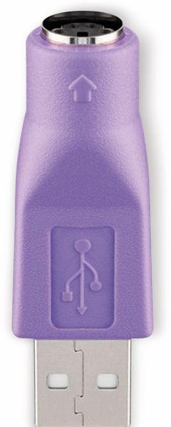 USB Adapter GOOBAY 68918, Typ A auf Mini-DIN 6, violett