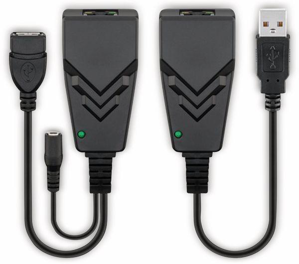 USB 2.0 Konverter GOOBAY 69074, CAT 5/5a/6, schwarz