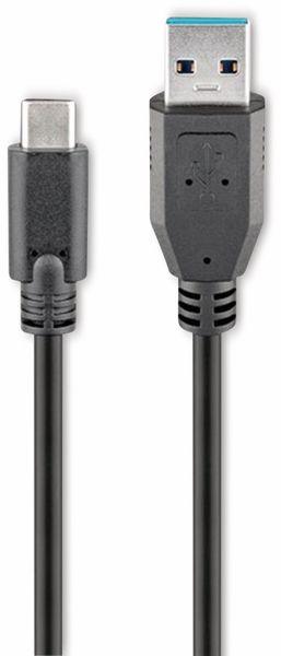 USB 3.0 Typ A/C Anschlusskabel, GOOBAY 73141, 3 m, schwarz