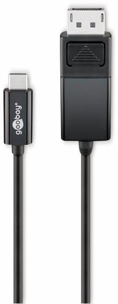 USB-C DisplayPort Adapterkabel, 4k60Hz, GOOBAY 79295, 1,2 m, schwarz