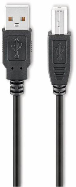 USB 2.0 Hi-Speed Anschlusskabel A/B, GOOBAY 93597, 3 m, schwarz