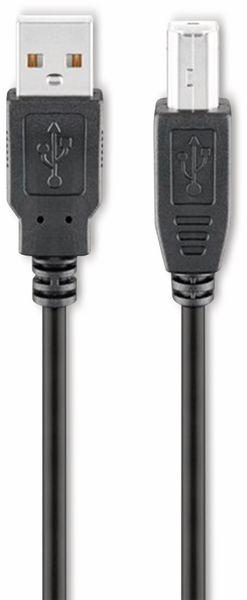 USB 2.0 Hi-Speed Anschlusskabel A/B GOOBAY 93598, 5 m, schwarz