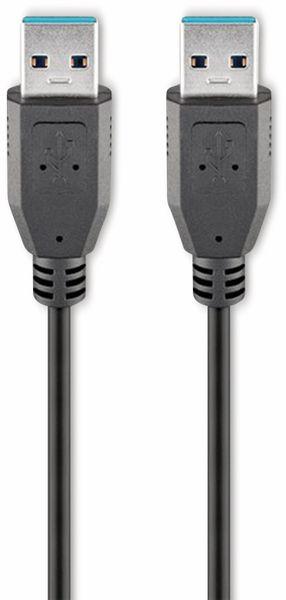 USB 3.0 Super-Speed Anschlusskabel A/A GOOBAY 93928, 1,8 m, schwarz