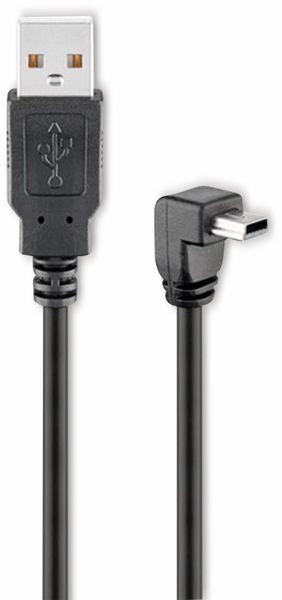 USB 2.0 Hi-Speed Anschlusskabel A/B GOOBAY 93971, 90°, 1,8 m, schwarz
