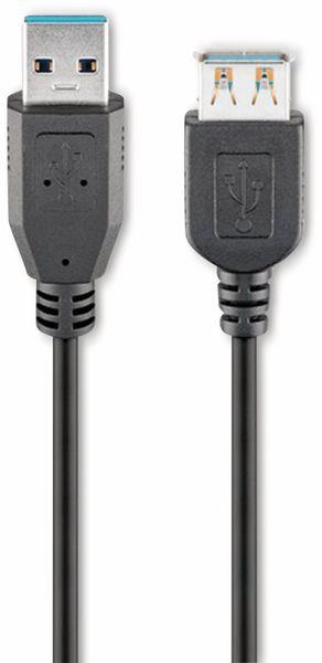 USB 3.0 Super-Speed Verlängerung, A/A, GOOBAY 93998, 1,8 m, schwarz