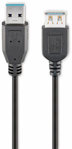 USB 3.0 Super-Speed Verlängerung, A/A, GOOBAY 93999, 3 m, schwarz