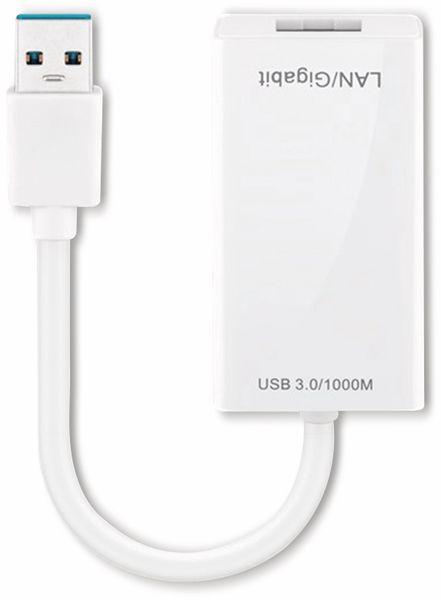 USB 3.0 Konverter GOOBAY 95442, RJ45 Gigabit Ethernet, weiß