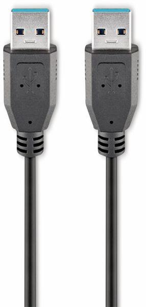 USB 3.0 Super-Speed Anschlusskabel, A/A, GOOBAY 95716, 0,5 m, schwarz