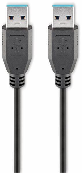USB 3.0 Super-Speed Anschlusskabel, A/A, GOOBAY 95717, 1 m, schwarz