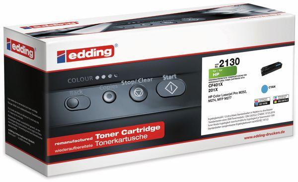 Toner EDDING EDD-2130, für HP CF401X Cyan