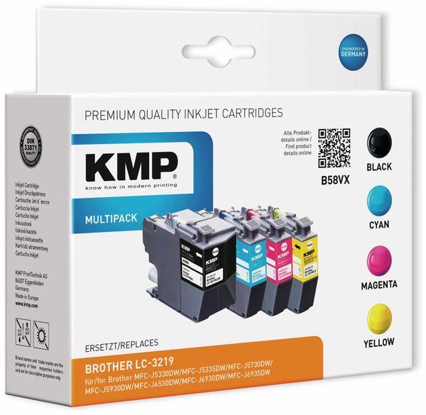 Tintenmultipack KMP B54VX, ersetzt Brother LC-3219XL BK/C/M/Y