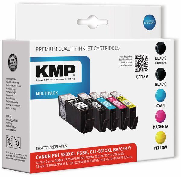 Tintenmultipack KMP C116V, ersetzt Canon CLI-581XXLBK/CLI-581XXL C,/M/Y