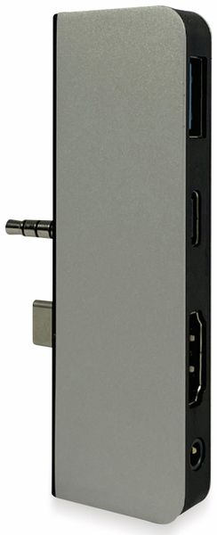 USB-C Adapter PLUSONIC PSUC0165, 5in1 - Produktbild 3