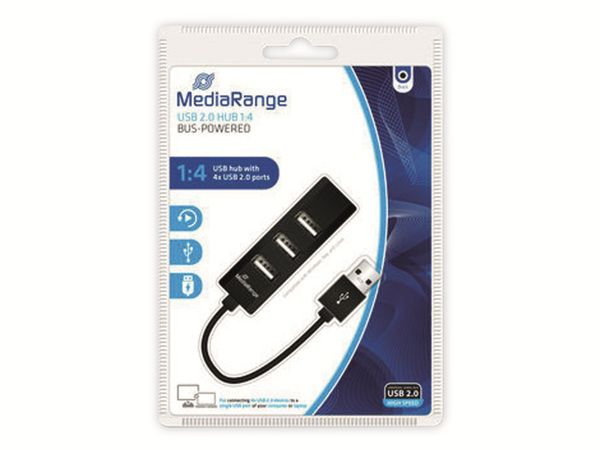 USB2.0 Hub MEDIARANGE MRCS502. 4-port - Produktbild 2