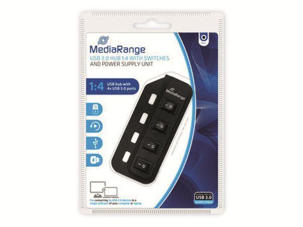 USB3.0 Hub MEDIARANGE MRCS505, 4-port - Produktbild 3