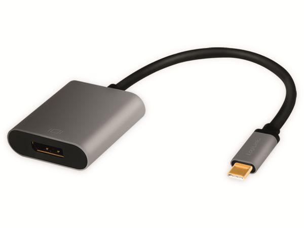 USB3.2 Adapter LOGILINK CUA0102, USB-C/DisplayPort, Alu, 4k, 0,15 m