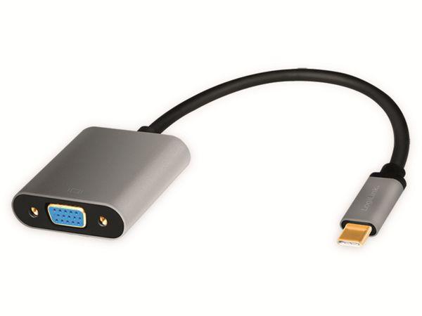 USB3.2 Adapter LOGILINK CUA0104, USB-C/VGA, Alu, 1080p, 0,15m