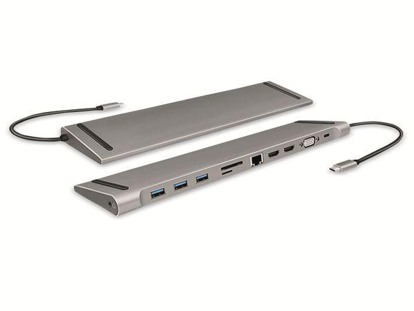 USB 3.2 Docking-Station LOGILINK UA0373, USB-C, USB-Port, PD, silver