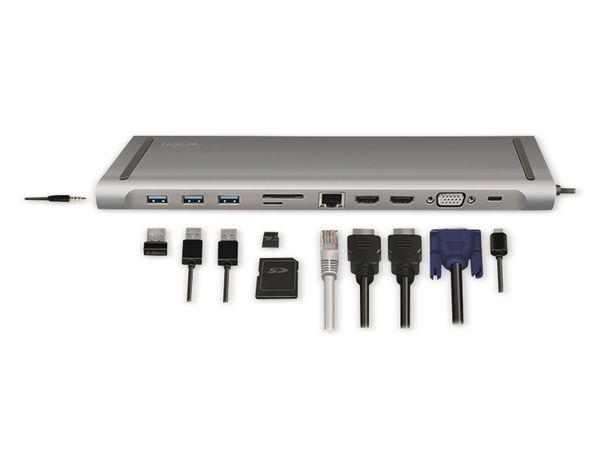 USB 3.2 Docking-Station LOGILINK UA0373, USB-C, USB-Port, PD, silver - Produktbild 2