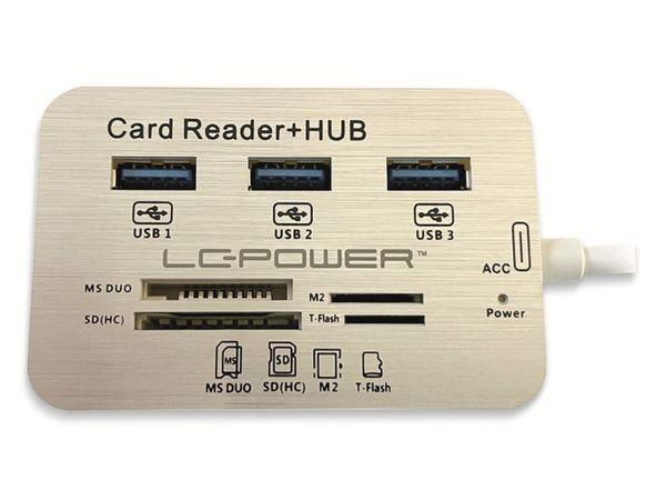 USB-Hub LC-POWER LC-HUB-C-CR, USB 3.0 Typ-C, 3-port, Card-Reader - Produktbild 3