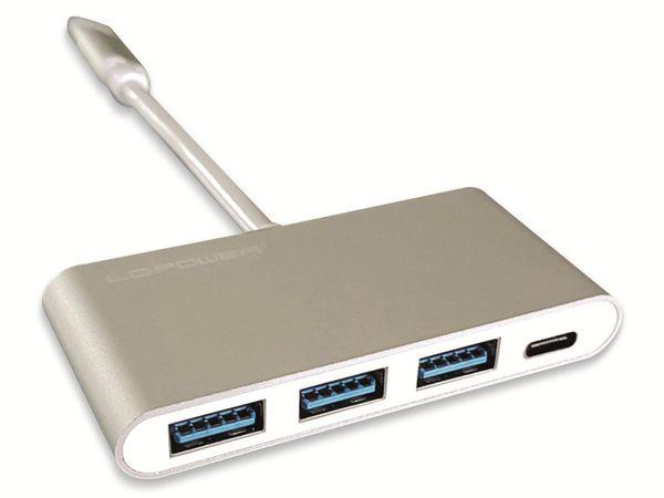 USB-Hub LC-POWER LC-HUB-C-PD-2, USB 3.0 Typ-C, 3-port, 60W PD