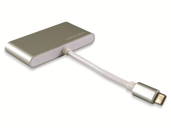 USB-Hub LC-POWER LC-HUB-C-PD-2, USB 3.0 Typ-C, 3-port, 60W PD - Produktbild 2