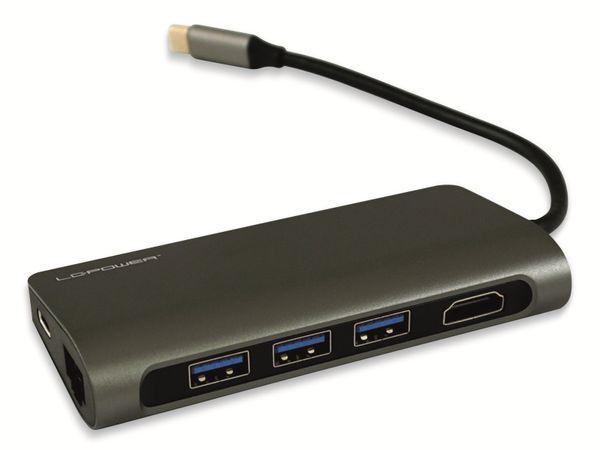 USB-Hub LC-POWER LC-HUB-C-MULTI-3, USB 3.0 Typ-C, 3-port, HDMI, RJ45, CR