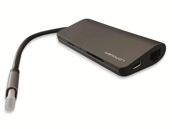 USB-Hub LC-POWER LC-HUB-C-MULTI-3, USB 3.0 Typ-C, 3-port, HDMI, RJ45, CR - Produktbild 2