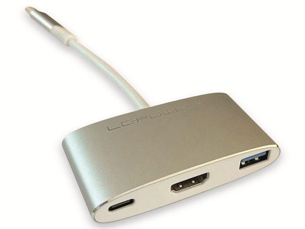 USB-Hub LC-POWER LC-HUB-C-MULTI-4, USB 3.0, Typ-C, 100W PD, 4K HDMI