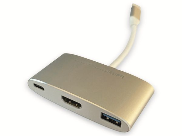USB-Hub LC-POWER LC-HUB-C-MULTI-4, USB 3.0, Typ-C, 100W PD, 4K HDMI - Produktbild 2