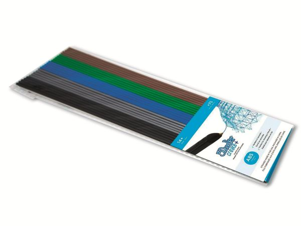 Filament 3DOODLER Create+, ABS Mix 1, schwarz, grau, blau, grün, braun