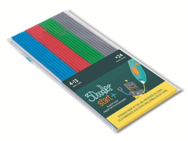 Filament 3DOODLER Start, Primary Pow Mix, grau, blau, rot, grün