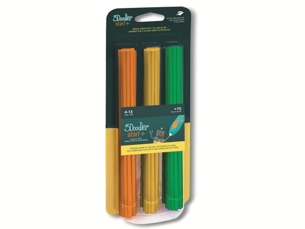 Filament 3DOODLER Start, Mix 2, orange, gelb, grün