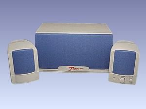 "PC-Subwoofer-System ""Typhoon Silver Crest"""