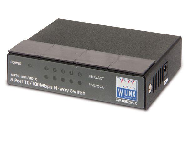 5-Port Mini-Netzwerk-Switch W-LINX SW-005CM-X - Produktbild 1